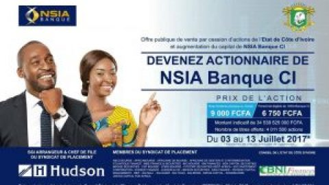 Become Shareholders of NSIA Bank Côte d'Ivoire